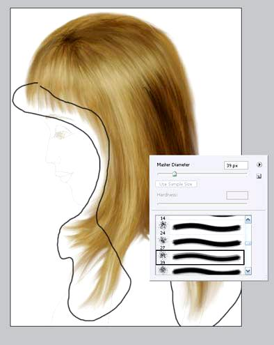 We draw hair (lesson 1)